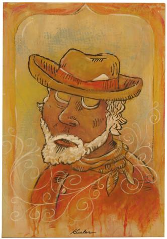 Feelin Stabby 2008 16x24 Painting
