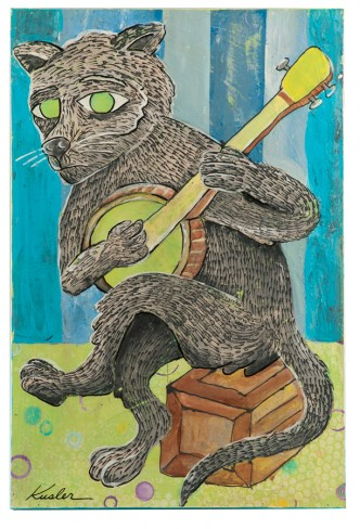 Chuckles the Banjo Cat 2016 16 x 24