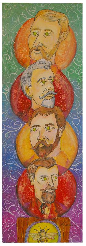 Beard Totem 2010 12 x 36 Painting